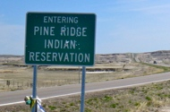 Photo of Pine Ridge Reservation road sign