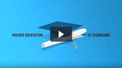 Cap and Diploma with play button on top