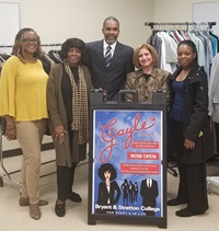Members of the Virginia Beach campus open Gayles Closet