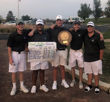 Bryant & Stratton golf team after winning the NJCAA Region IV championship