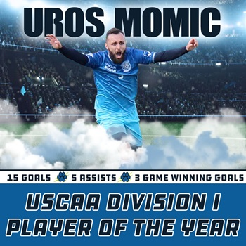 Picture of USCAA player of the year Uros Momic
