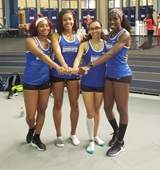 Four members of the Bryant & Stratton College women's track team