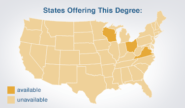 Availability Map showing available only in WI, OH, and VA