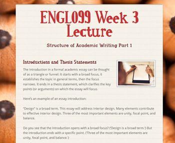 Example of myBSC Course Lecture