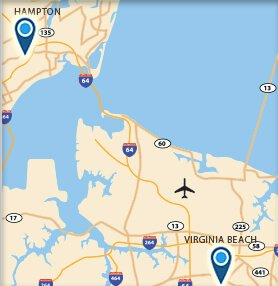 Hampton VA Map
