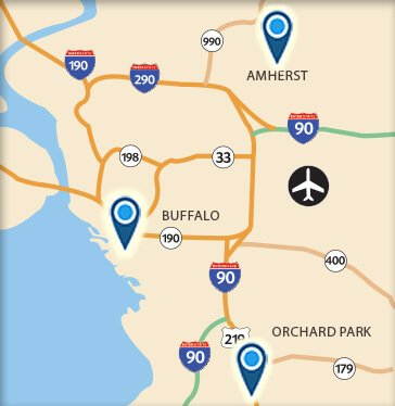 Orchard Park New York Map.Colleges In Western New York Bryant Stratton College