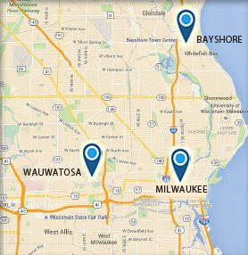 Milwaukee WI Map