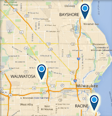 Map of Wisconsin campus locations