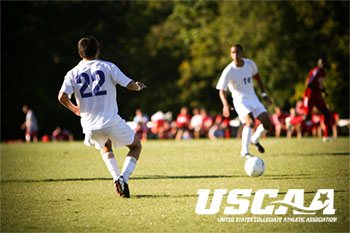 Syracuse Campus Soccer players on the field USCAA