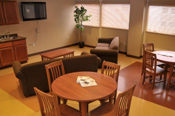 Picture of lounge area in dorms