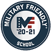 Logo designating Bryant & Stratton College as a Military Friendly School for 2020-21