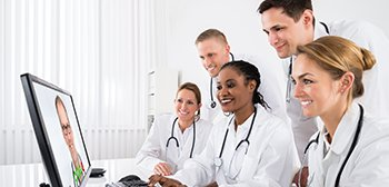 Healthcare professionals prepare for credential exams online