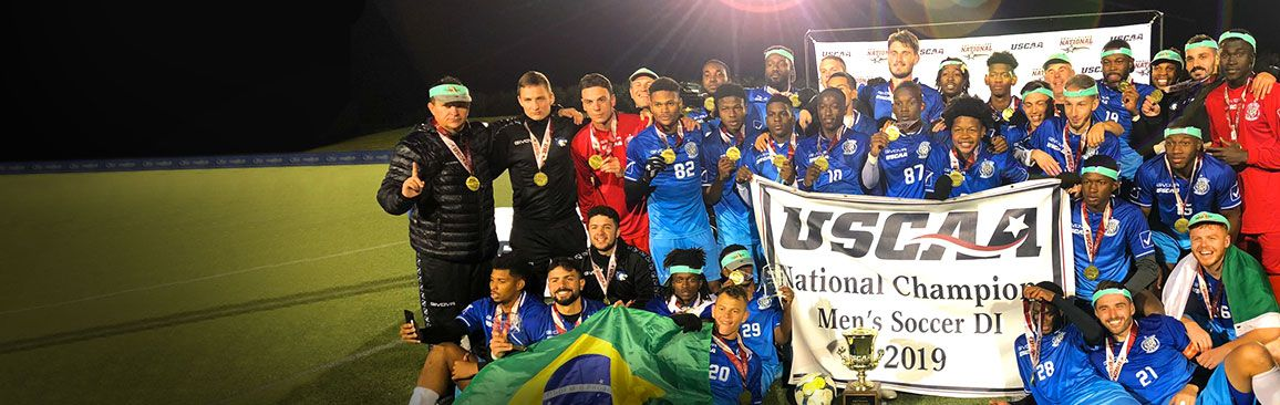 Bryant & Stratton College men's soccer team after winning the 2019 USCAA National Championship
